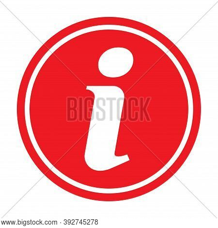 Information Help Icon, Helpdesk Info Bubble Desk. Vector Sing Isolated On White Background