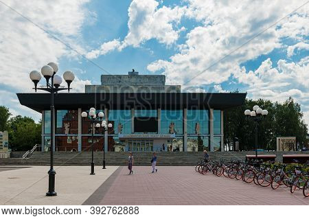 Vladimir, Russia, July 28, 2020, Russian Stage: Academic Drama Theater In Vladimir. Sights Of Russia