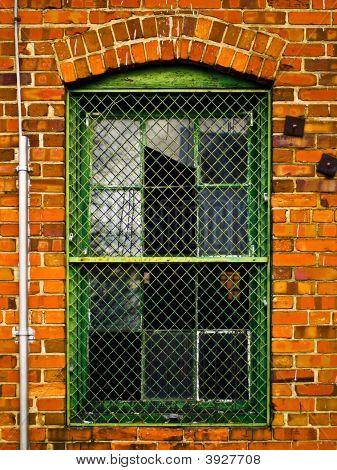 Industrial Brick Building'S Window
