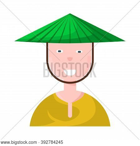 Isolated Object Of Vietnamese And Portrait Symbol. Collection Of Vietnamese And Costume Stock Vector
