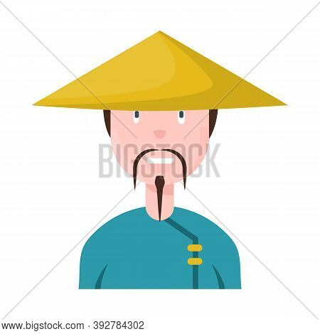 Isolated Object Of Vietnamese And Portrait Symbol. Set Of Vietnamese And Costume Stock Vector Illust