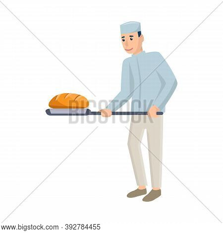 Isolated Object Of Baker And Spatula Icon. Collection Of Baker And Bread Stock Vector Illustration.