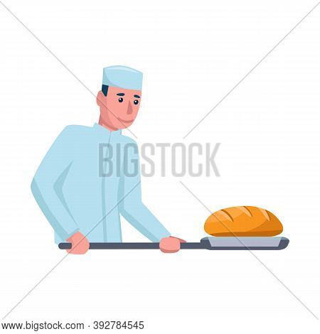 Isolated Object Of Baker And Spatula Symbol. Collection Of Baker And Bread Vector Icon For Stock.