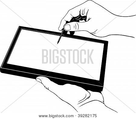 Tablet pc with stylus pen