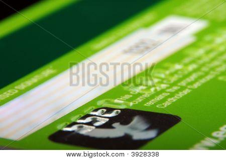 Credit Card Back