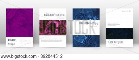 Abstract Cover. Captivating Design Template. Suminagashi Marble Minimalistic Poster. Captivating Tre