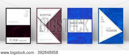 Abstract Cover. Curious Design Template. Suminagashi Marble Stylish Poster. Curious Trendy Abstract
