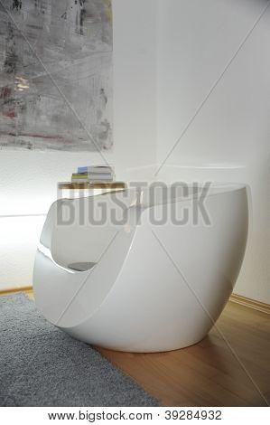 Designer Lounge Chair in Book corner