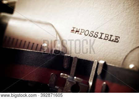 Impossible word written with a typewriter.
