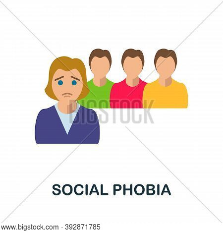Social Phobia Icon. Simple Element From Critical Thinking Collection. Creative Social Phobia Icon Fo