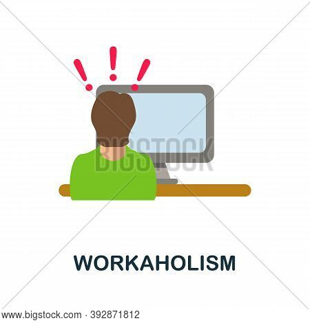Workaholism Icon. Simple Element From Critical Thinking Collection. Creative Workaholism Icon For We