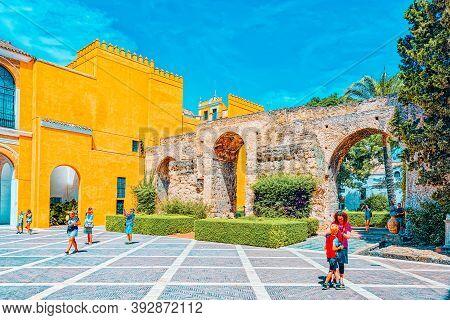 View Of Inner Patio Patio De La Monteria Of The Royal Alcazar Of