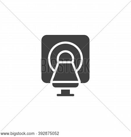 Mri Scanner Vector Icon. Filled Flat Sign For Mobile Concept And Web Design. Mri Machine Glyph Icon.