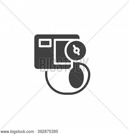 Sphygmomanometer Vector Icon. Filled Flat Sign For Mobile Concept And Web Design. Blood Pressure Mea