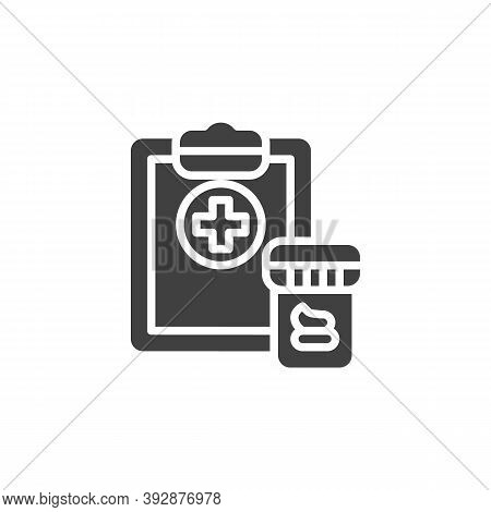 Stool Analysis Vector Icon. Filled Flat Sign For Mobile Concept And Web Design. Fecal Analysis Glyph