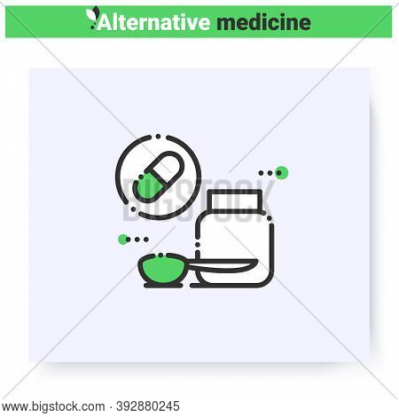Dietary Supplements Line Icon.nutrition, Diet.homeopathy Peels.medicines, Pharmacy.health Care And W