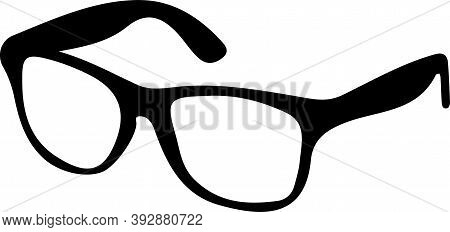 Glasses  Icon Isolated On White Background , Retro, See, Side, Sight