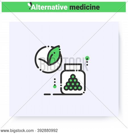 Homeopathy Line Icon.herbal Remedy.ayurvedic Peels Bottle.natural, Herbal Medicine.health Care And W