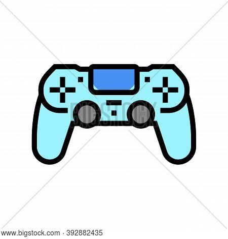Play Game Geek Color Icon Vector. Play Game Geek Sign. Isolated Symbol Illustration