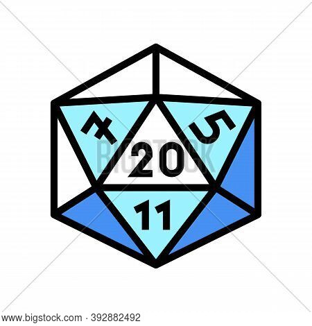 Numerology Geek Color Icon Vector. Numerology Geek Sign. Isolated Symbol Illustration
