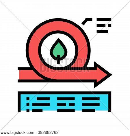 Environmental Circular Economy Color Icon Vector. Environmental Circular Economy Sign. Isolated Symb