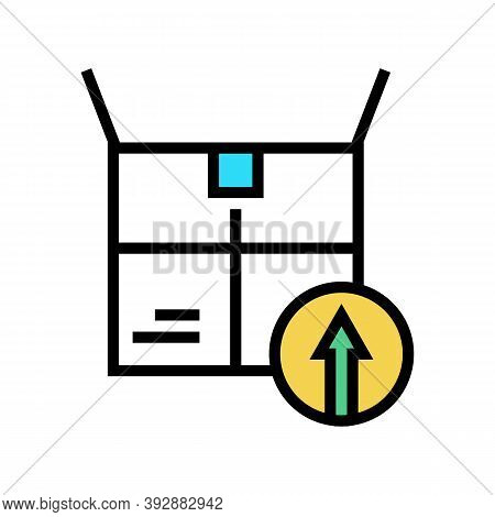 Packaging Linear Economy Color Icon Vector. Packaging Linear Economy Sign. Isolated Symbol Illustrat