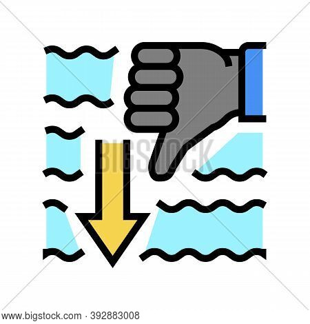 Immersion Diver Gesture Color Icon Vector. Immersion Diver Gesture Sign. Isolated Symbol Illustratio
