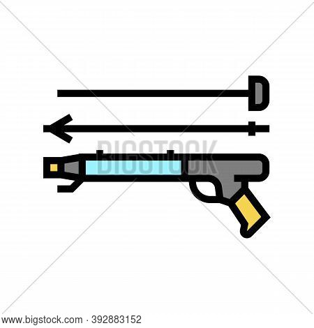 Harpoon Weapon Color Icon Vector. Harpoon Weapon Sign. Isolated Symbol Illustration