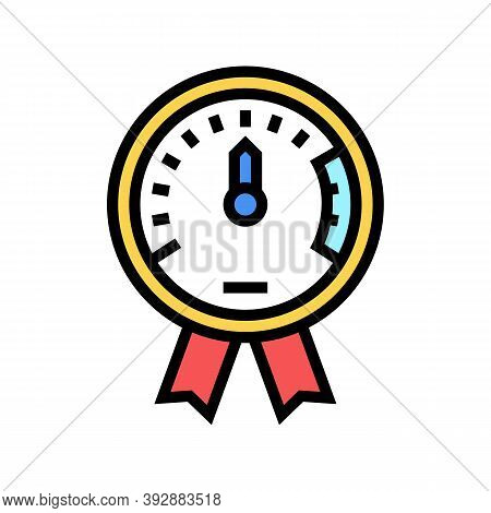 Project Execution On Time Color Icon Vector. Project Execution On Time Sign. Isolated Symbol Illustr