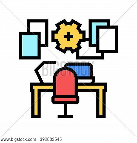 Workplace Organisation Color Icon Vector. Workplace Organisation Sign. Isolated Symbol Illustration