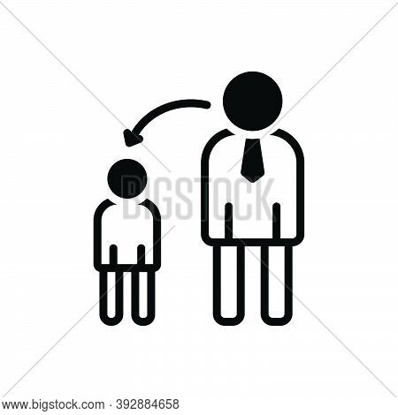 Black Solid Icon For Childhood Infancy Early-life Kid Child Parent Juvenility Puerility