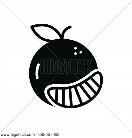 Black Solid Icon For Entirely Slice Absolutely  Totally Altogether Fruit Orange Wholly