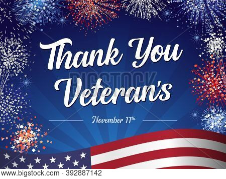 Thank You Veterans For Serving Our Country And Protecting Our Freedoms. Veterans Day Hand-lettering