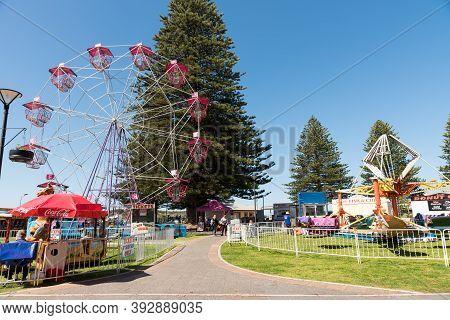 Victor Harbor, Sa, Australia - October 6, 2016: Children And Families Having Fun On Rides At Fairgro