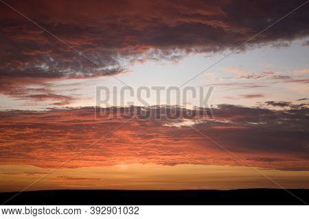 Sunset On Paracas National Park, Peru Sunset On Paracas National Park, Peru