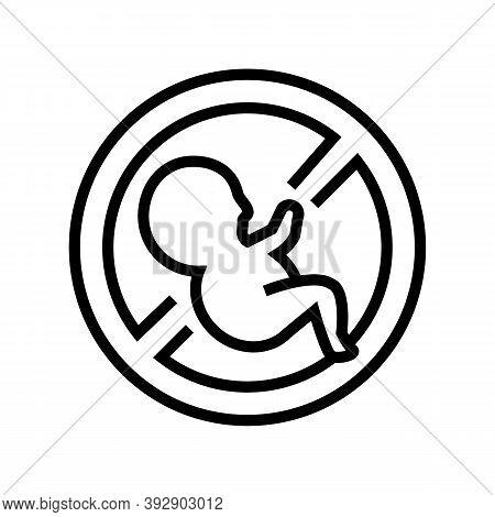 Abortion Medical Procedure Line Icon Vector. Abortion Medical Procedure Sign. Isolated Contour Symbo