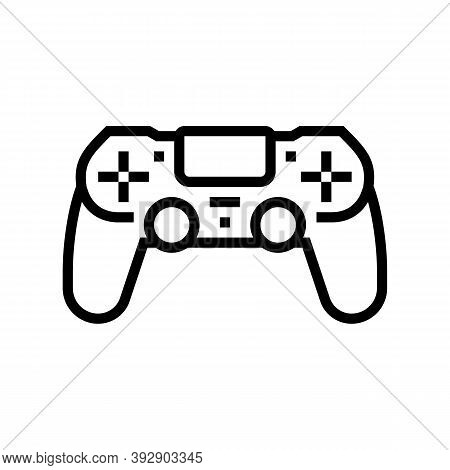 Play Game Geek Line Icon Vector. Play Game Geek Sign. Isolated Contour Symbol Black Illustration