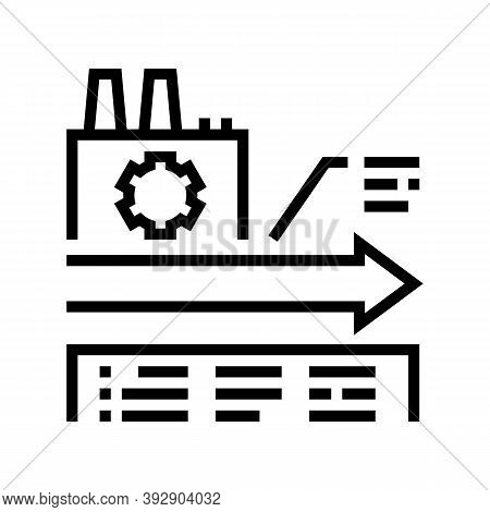 Manufacturing Linear Economy Line Icon Vector. Manufacturing Linear Economy Sign. Isolated Contour S