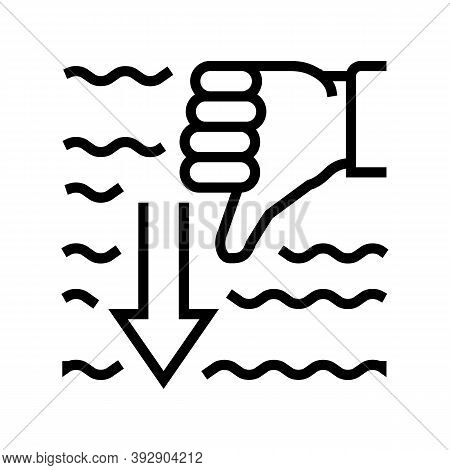 Immersion Diver Gesture Line Icon Vector. Immersion Diver Gesture Sign. Isolated Contour Symbol Blac