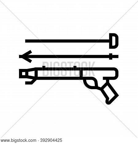 Harpoon Weapon Line Icon Vector. Harpoon Weapon Sign. Isolated Contour Symbol Black Illustration