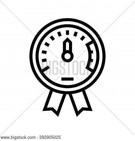 Project Execution On Time Line Icon Vector. Project Execution On Time Sign. Isolated Contour Symbol