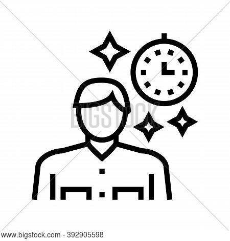 Human Nostalgia Line Icon Vector. Human Nostalgia Sign. Isolated Contour Symbol Black Illustration