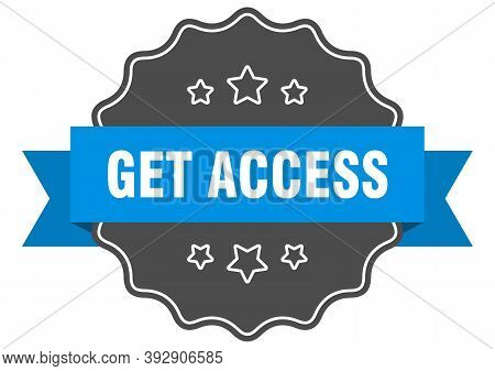 Get Access Label. Get Access Isolated Seal. Sticker. Sign