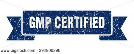 Gmp Certified Grunge Vintage Retro Band. Gmp Certified Ribbon