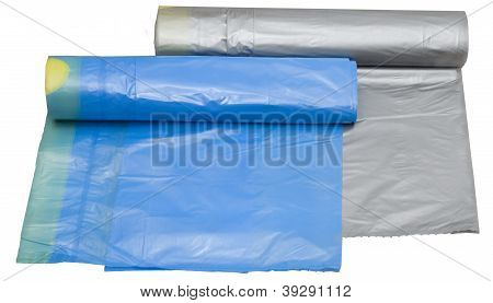 Two Garbage Plastic Bags