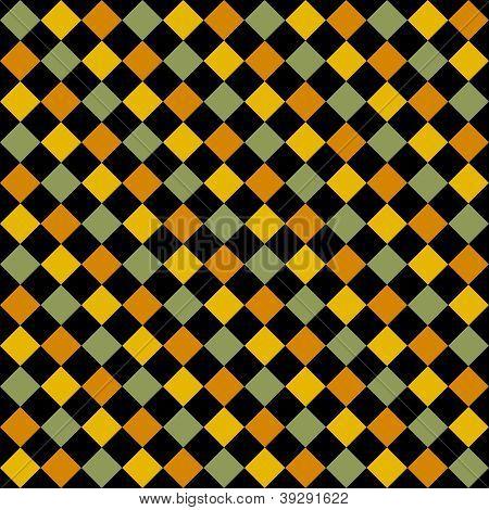 Seamless Bright Diagonal Checks