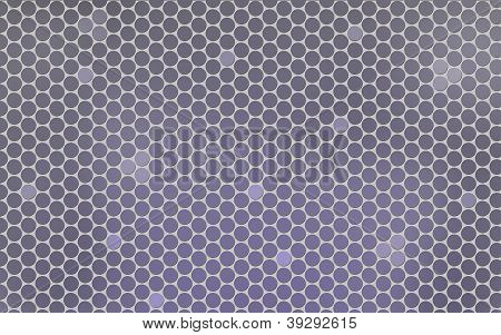 Gray Background With Abstract Grid.