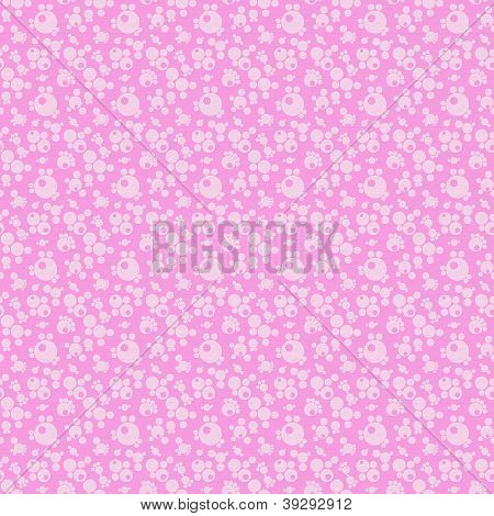 White And Pink Seamless Abstract Geometric Pattern, Textured Background