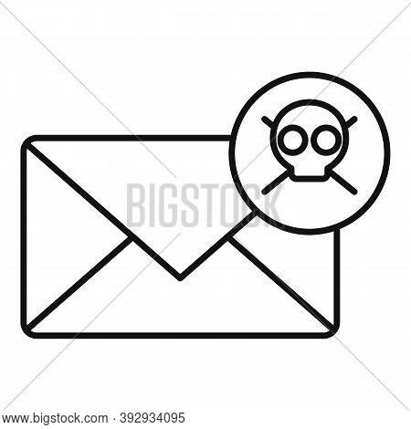 Danger Fraud Mail Icon. Outline Danger Fraud Mail Vector Icon For Web Design Isolated On White Backg