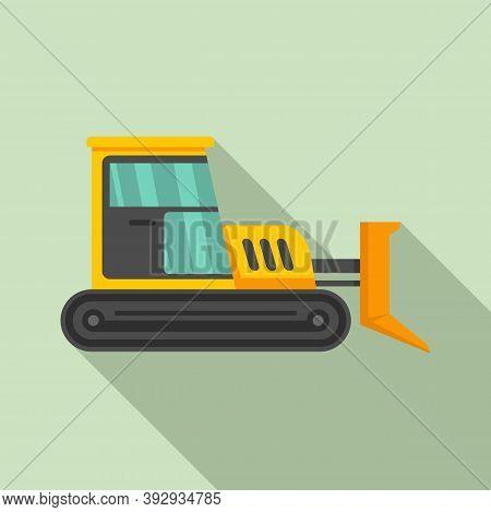 Build Bulldozer Icon. Flat Illustration Of Build Bulldozer Vector Icon For Web Design